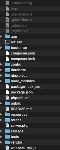 Laravel 7のファイル構成