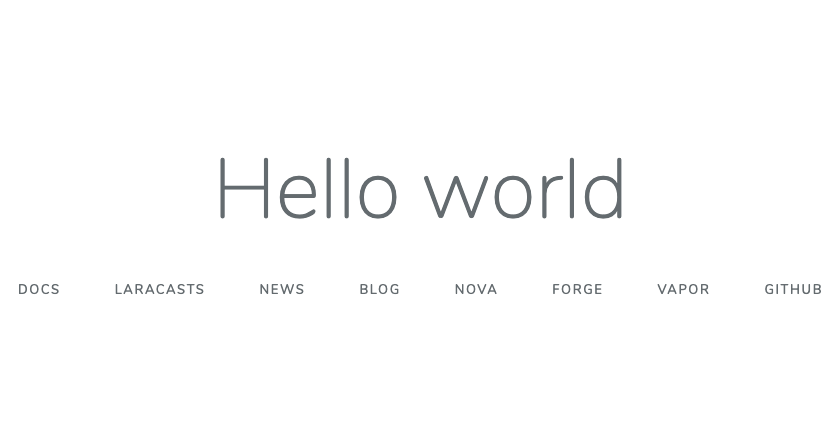 Laravel 7のhello world